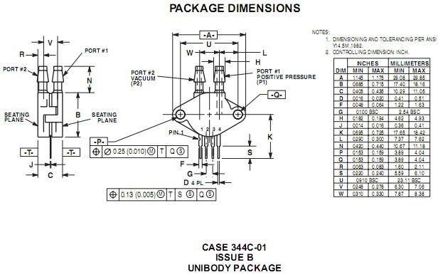 压力传感器mpx10dp