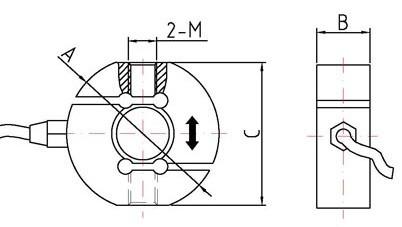 用途和特点:s型结构测力传感器采用合金钢