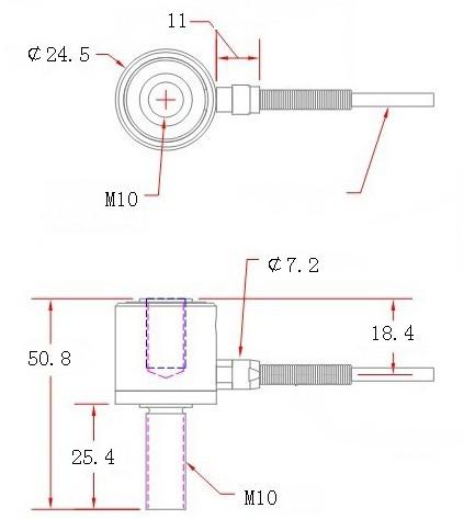 柱式拉力传感器│圆柱式拉压力传感器│小柱式拉力