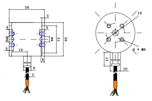 高精度柱式拉压力传感器
